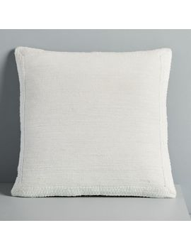 Textured Border Pillow Cover   Stone White by West Elm