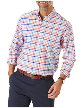 Easy Care Twill Multi Check Long Sleeve Shirt by Gazman