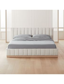 Forte White King Bed by Crate&Barrel