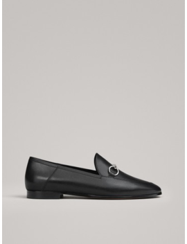 Black Snaffle Loafers by Massimo Dutti