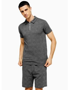 Grey Prince Of Wales Check Polo by Topman