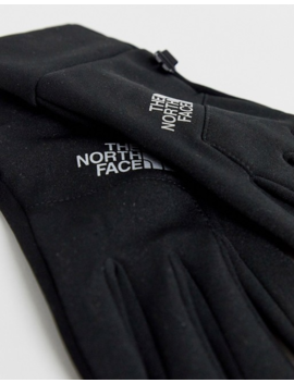 The North Face Lunar Etip Gloves In Black/Silver Reflective by The North Face