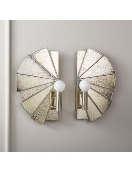 Desmond Antique Mirror Sconces Set Of 2 by Crate&Barrel