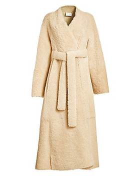 Tanilo Shearling Wrap Coat by The Row