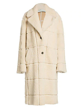 Long Shearling Coat by Off White