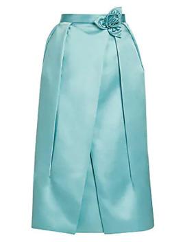 Duchesse Satin Technical Petal Skirt by Prada