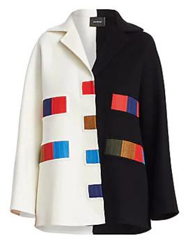 Elaine Cashmere Double Face Colorama Coat by Akris