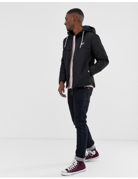 Jack & Jones Hooded Jacket In Black by Jack & Jones