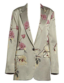 floral-embellished-lurex-jacket by dries-van-noten
