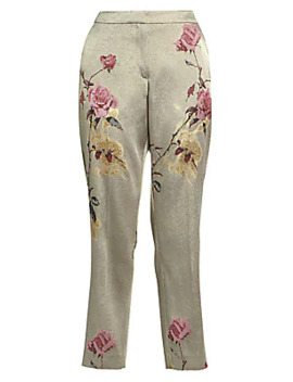 Floral Embellished Lurex Trousers by Dries Van Noten