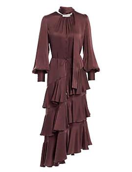 eye-spy-tiered-silk-dress by zimmermann