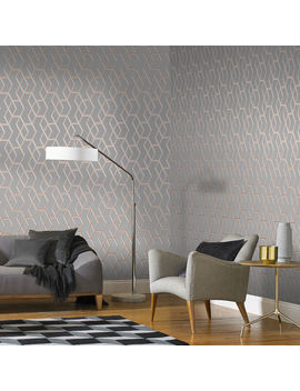 Archetype Grey & Rose Gold Wallpaper by Graham & Brown