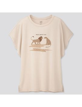 Women The Lion King Ut (Short Sleeve Graphic T Shirt) by Uniqlo