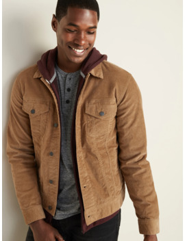 Built In Tough Corduroy Trucker Jacket For Men by Old Navy