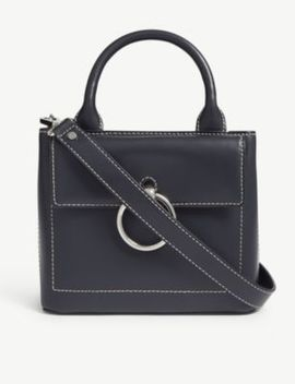 Anouck Small Saddle Stitch Leather Shoulder Bag by Claudie Pierlot