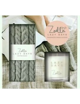 💖Zoella Lazy Days Fragranced Candle & Socks Gift Set💗 by Ebay Seller