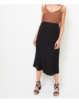 Linen Blend Slip Skirt by Sportsgirl