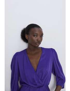 Satin Wrap Blouse View All Shirts by Zara