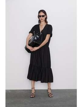 Ruffled Poplin Dress Dresseswoman by Zara