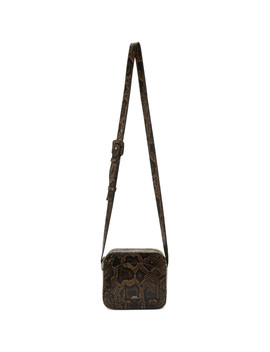 Brown Snake Louisette Bag by A.P.C.