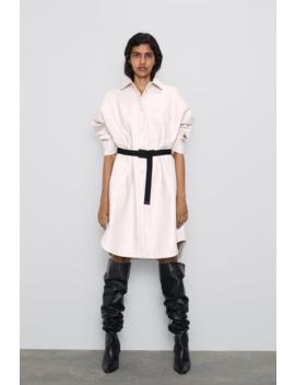 Lang Overskjorte I Imiteret Skind Nyhederdame by Zara