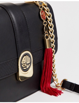 Aldo Tassel Trim Top Handle Bag by Asos