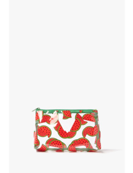 Watermelon Print Makeup Bag by Forever 21
