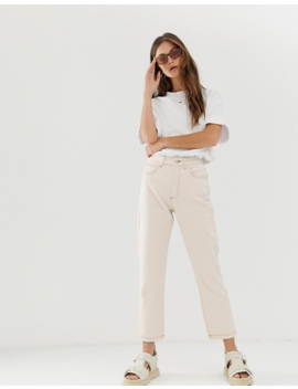 Reclaimed Vintage – Gräddvita Mom Jeans I 91 Talsstil by Reclaimed Vintage Inspired