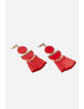 Tassel Geo Drop Earrings by Forever 21