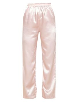 Rose Satin Trouser  by Prettylittlething