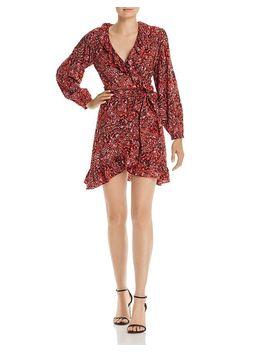 Ruffled Leopard Print Wrap Dress   100% Exclusive by Aqua