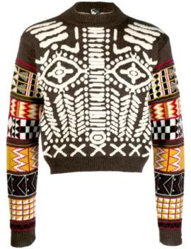 1990/91's The Big Bang Intarsia Jumper by Walter Van Beirendonck Pre Owned