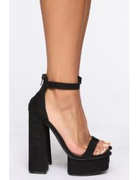 You're A Beautiful One Heeled Sandals   Black by Fashion Nova
