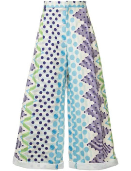 Geometric Printed Loose Fit Trousers by Walter Van Beirendonck Pre Owned