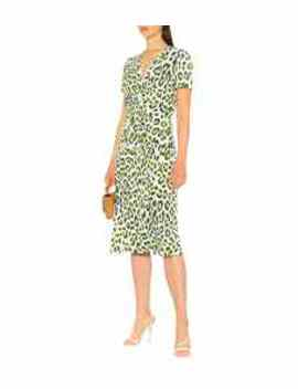Cecilia Leopard Print Midi Dress by Diane Von Furstenberg