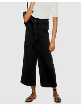 Casual Tie Waist Wide Leg Trousers by Topshop