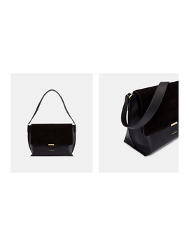 Leather And Suede Shoulder Bag by Ted Baker