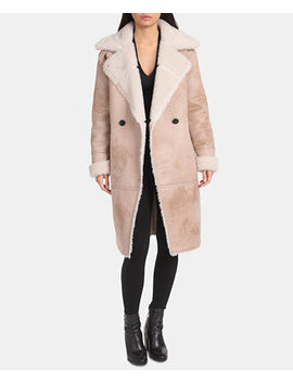 Asymmetrical Faux Shearling Coat by General