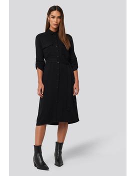 Midi Belted Shirt Dress Sort by Trendyol
