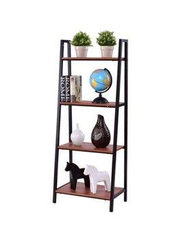 Costway 4 Tier Ladder Book Organizer Bookcase Storage Display Book Shelf Rack by Costway
