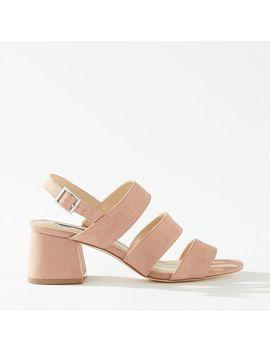 Sienna Pink 3 Strap Heel Sandals by Miss Selfridge