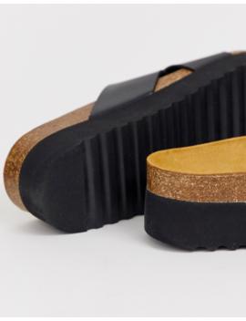 Office Warner Cross Strap Flat Sandals In Black by Office