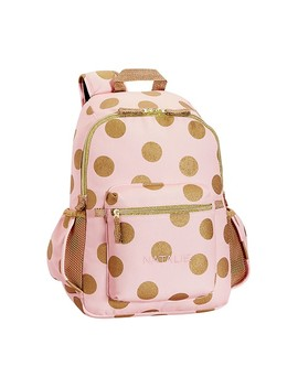 The Emily & Meritt Gold Dots, Large Backpack by Pottery Barn Kids