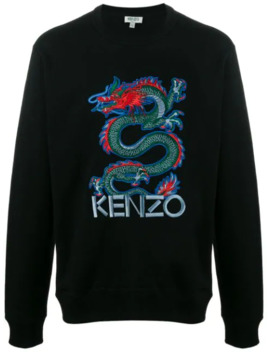 Embroidered Dragon Sweatshirt by Kenzo