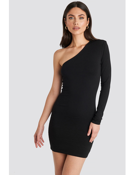 Padded One Shoulder Dress Black by Na Kd Party