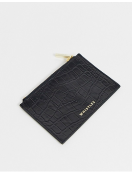 Whistles Shiny Croc Leather Coin Purse by Whistles