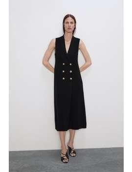 Buttoned Knit Dress New Inwoman by Zara