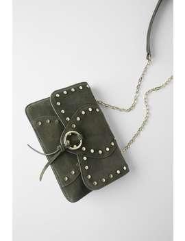 Studded Split Suede Crossbody Bag New Inwoman by Zara