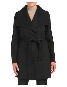 Wool Blend Ella Double Face Wrap Coat by Tj Maxx