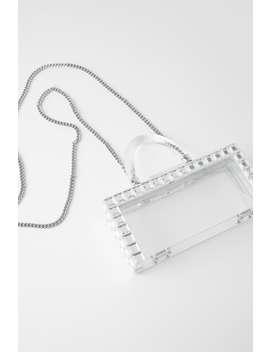 Transparent Rigid Mini Box Bag With Studs Bagswoman Shoes & Bags by Zara